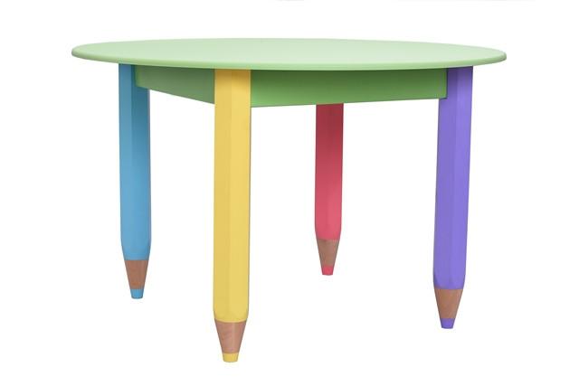 Столик Карандашики круглый салатовый, d=80см