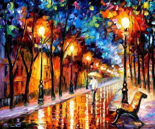 Картина по номерам Дождливая осень 40 х 50 см (KHO2624)