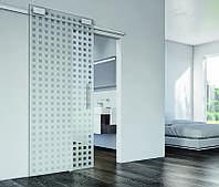 Комплект фурнитуры для стеклянных раздвижных дверей Design 40 V вариант E1