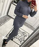 Вязаный костюм туника+лосины 1284, фото 1