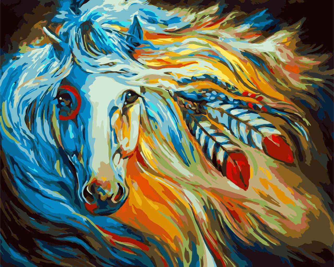 Картина по номерам Непокорная Галия 40 х 50 см (KHO4014)