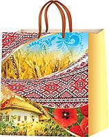 Подарочные пакеты символика Украины размер 24 х 24 см (12 шт./уп.)