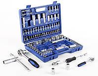 Набір головок ключів MASTIFF 108 елементів з двома тріщотками , набір ключів в чемодані , Польша!
