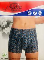 Трусы мужские боксёры хлопок + бамбук Nickdan размер L-3XL(46-56) 7789