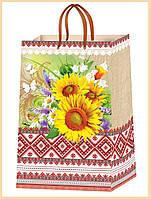 Подарочные пакеты символика Украины размер 38 х 24 см (12 шт./уп.)