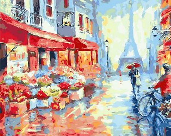 Картина по номерам Весенний дождь в Париже 40 х 50 см (MR-Q1228)