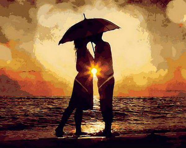 Картина по номерам Поцелуй на закате 40 х 50 см (MR-Q1298)