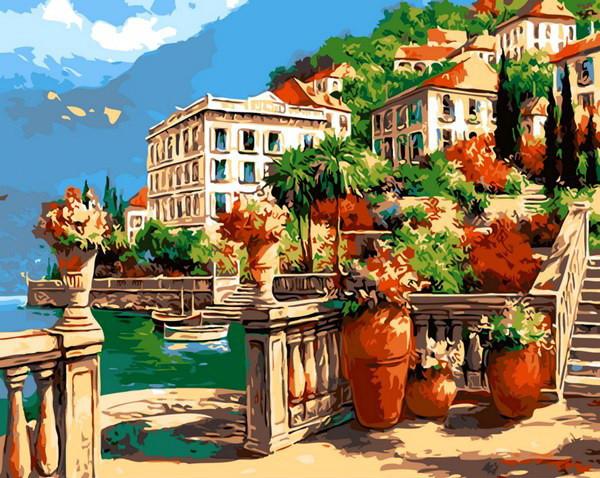 Картина по номерам Средиземноморская веранда 40 х 50 см (MR-Q1436)