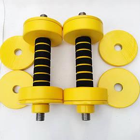 Гантели наборные от 0,5 кг до 4 кг. Для фитнеса, аэробики и для детей, общий вес 8 кг, фото 2
