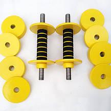 Гантелі набірні від 0,5 кг до 4 кг Для фітнесу, аеробіки і для дітей, загальна вага 8 кг, фото 2