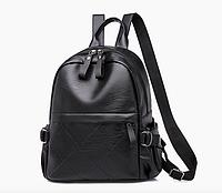 Рюкзак женский кожзам городской Casual черный, фото 1