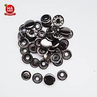Кнопки для верхней одежды Kaппa 15мм. Кнопка киевская №61, Темный никель (720шт)