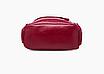 Рюкзак женский кожзам городской Casual красный, фото 6