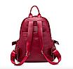 Рюкзак женский кожзам городской Casual красный, фото 8