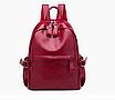 Рюкзак женский кожзам городской Casual красный, фото 2