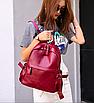 Рюкзак женский кожзам городской Casual красный, фото 4