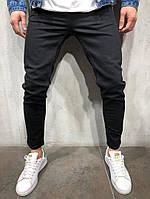 мужские прямые джинсы черные