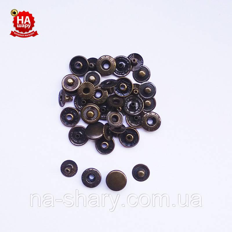 Кнопки для одежды Альфа 12.5мм. Кнопка рубашечная №54, Антик (720шт)