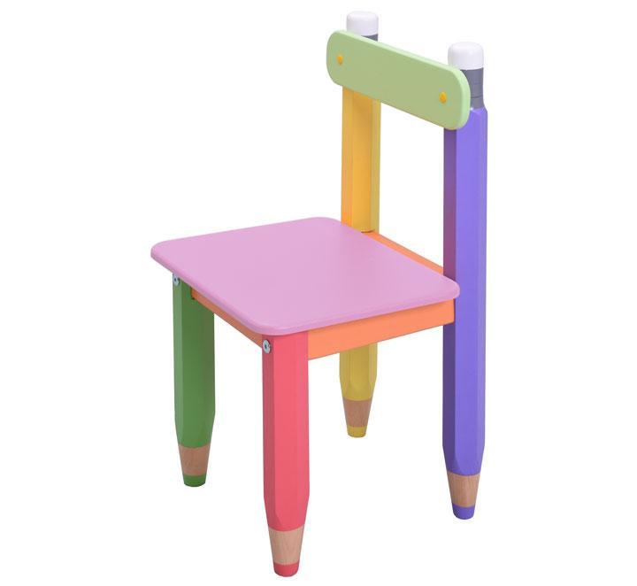 """Детский стульчик """"Карандашики"""". Цвет сидения розовый"""