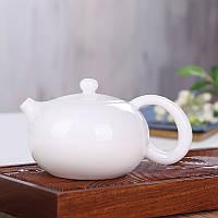 Фарфоровый заварочный чайник белый, 180 мл, фото 1