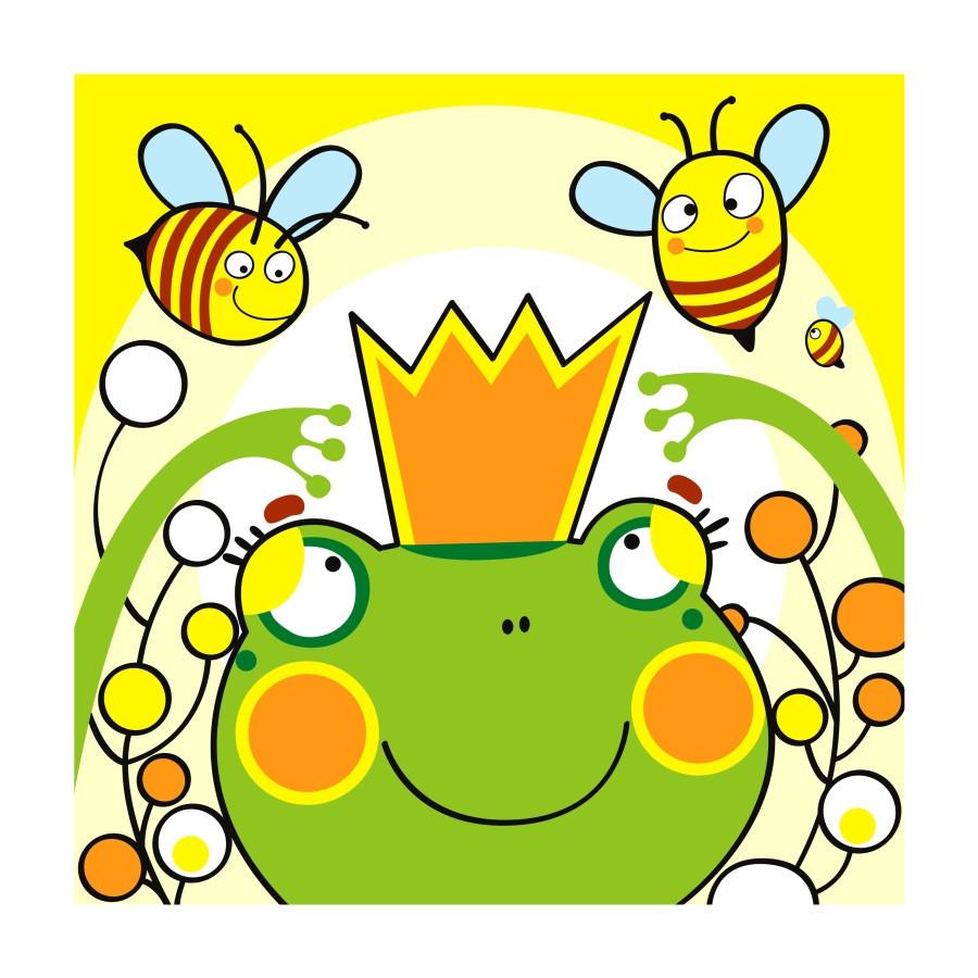 Картина по номерам Лягушка царевна 25 х 25 см (RS-N0000230)