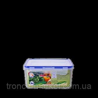 """Набор контейнеров для пищевых продуктов с зажимом прямоугольных """"3 в 1"""", фото 2"""
