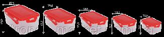 """Набор контейнеров для пищевых продуктов с зажимом прямоугольных """"3 в 1"""", фото 3"""