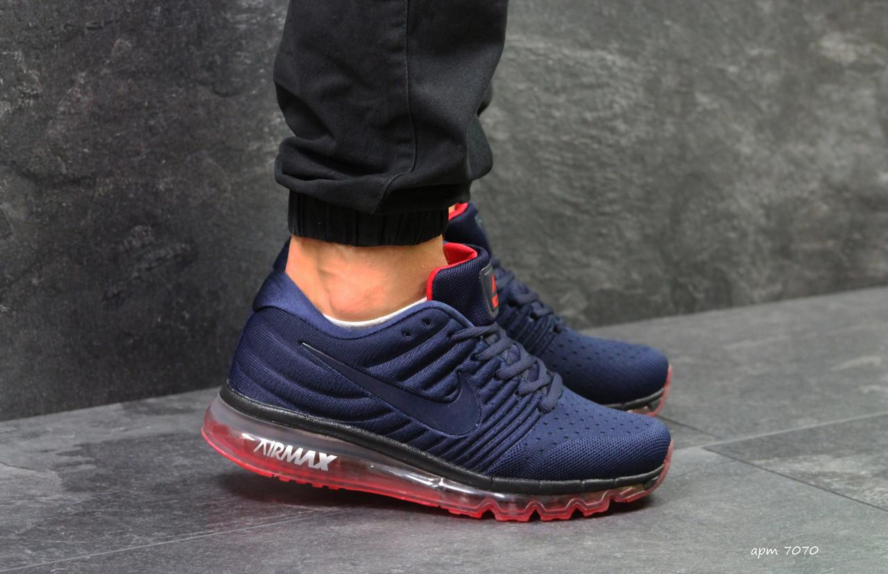 Мужские кроссовки Nike Air Max 2017 синие ( Реплика ААА+) - bonny-style ec53357b51322