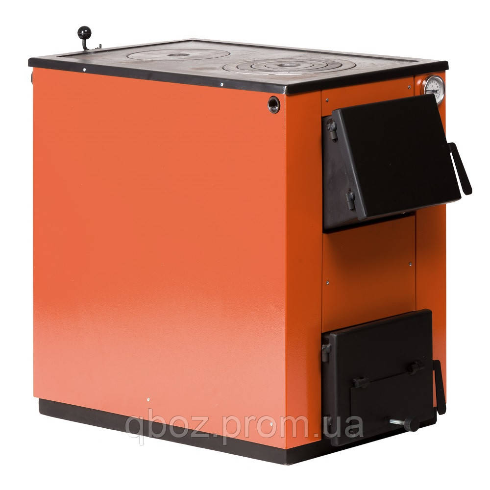 Твердотопливный котел MaxiTerm (макситерм) 20 кВт с варочной плитой.