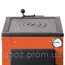 Котел на твердом топливе Макситерм 12 кВт. с плитой . Серия Классик, фото 2