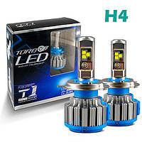 b7b5c2b307a Комплект LED ламп TurboLed T1 H4 6000K 35W 12/24v CanBus с активным  охлаждением