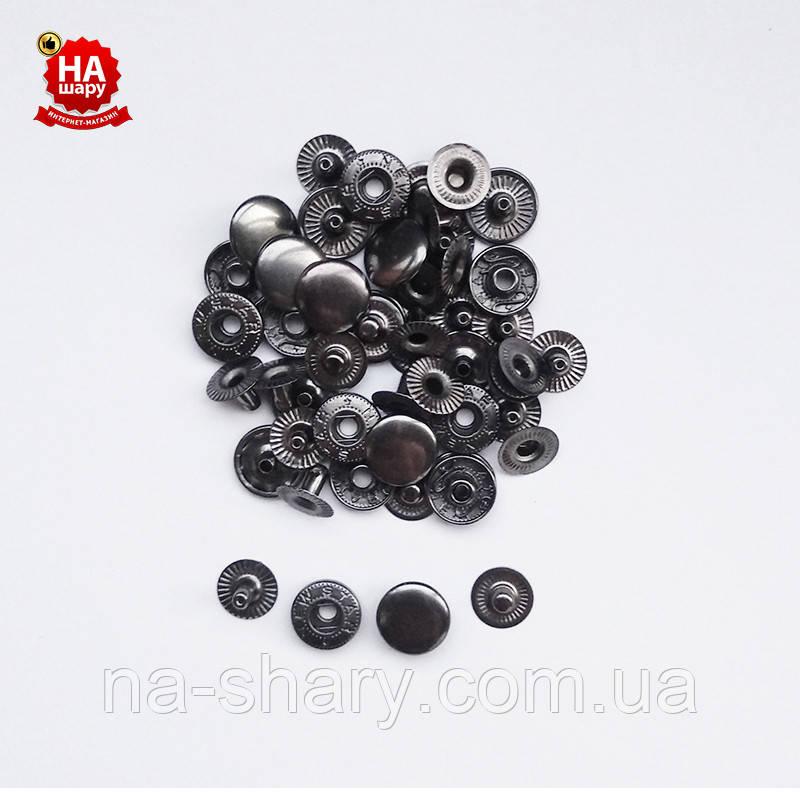 Кнопки для рубашек Альфа 12.5мм. Кнопка рубашечная №54, Темный никель (720шт)