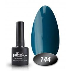 Гель-лак Nice for you № 144 (сине-бирюзовый), 8,5 мл