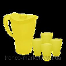 Набор посуды для подачи и разлива напитков: Кувшин с крышкой и стаканы, фото 3