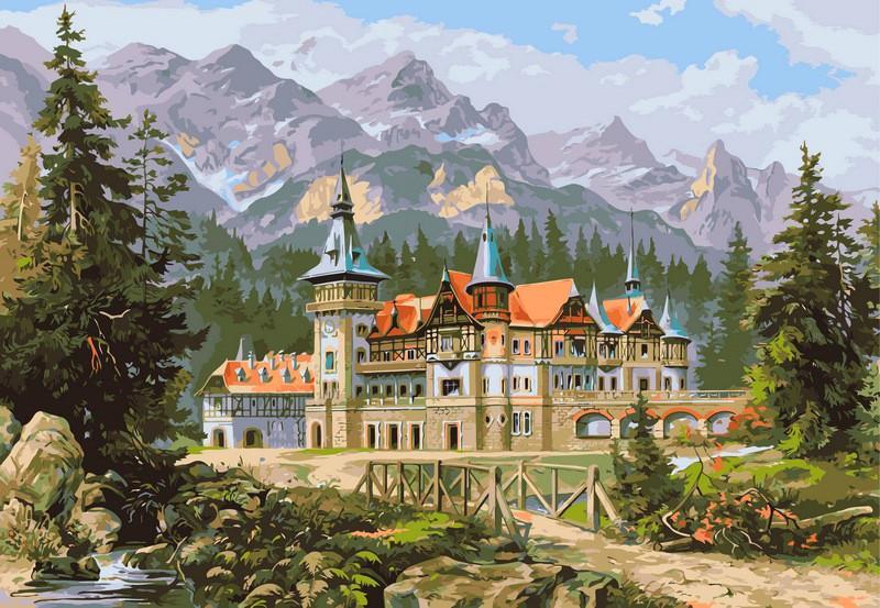 Картина по номерам Замок Спящей красавицы 40 х 50 см (VP149)