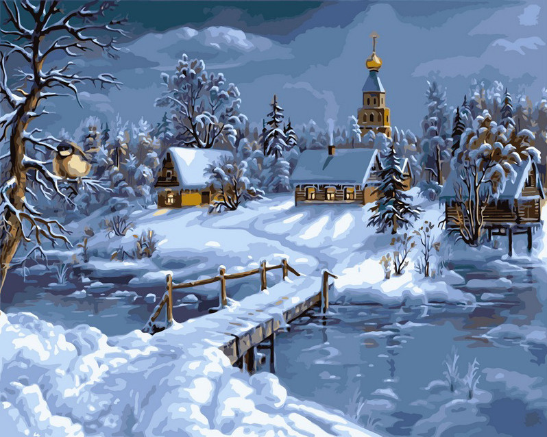 Картина по номерам Зимняя сказка 40 х 50 см (VP169)