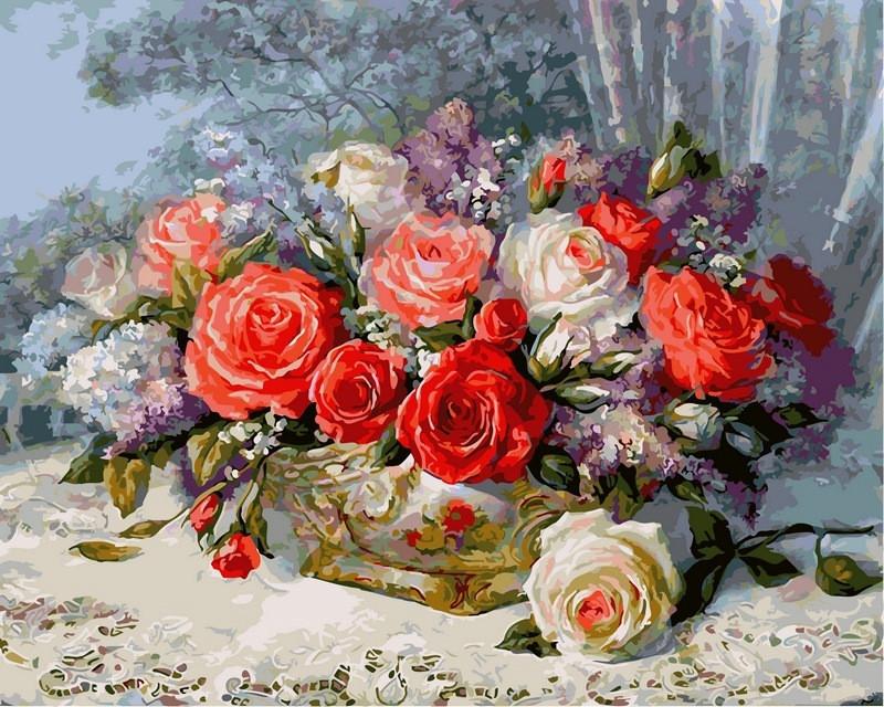 Картина по номерам Розы на веранде 40 х 50 см (VP337)