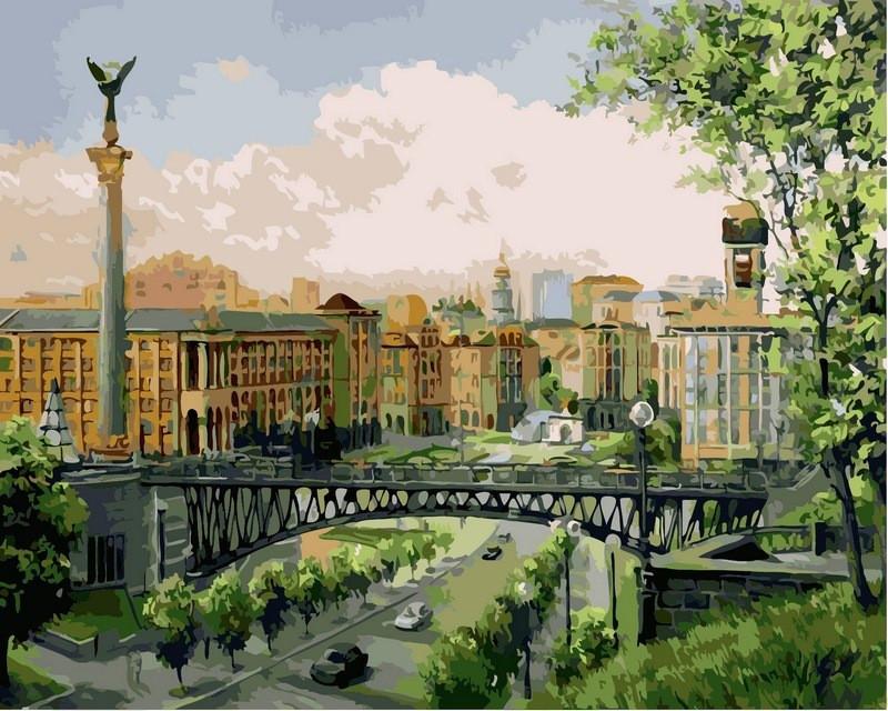 Картина по номерам Майдан Незалежности 40 х 50 см (VP369)