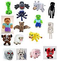 16в1 Комплект мягких игрушек Майнкрафт minecraft