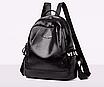 Рюкзак женский кожзам городской Love черный, фото 2
