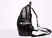 Рюкзак женский кожзам городской Love черный, фото 3