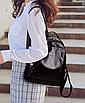 Рюкзак женский кожзам городской Love черный, фото 5