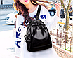 Рюкзак женский кожзам городской Love черный, фото 7