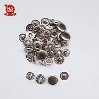 Кнопки для рубашек Alfa 12.5мм. Кнопка рубашечная №54, Никель (720шт)