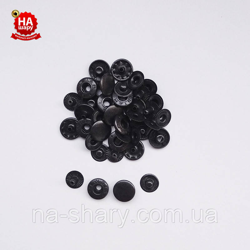 Кнопки для одягу Альфа 12.5 мм Кнопка сорочкова №54, Чорна (720шт)