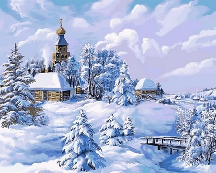 Картина по номерам Середина зимы 40 х 50 см (VP818)