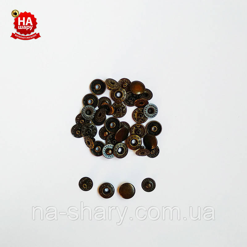 Кнопки для одежды Альфа 10мм. Кнопки для кошельков. VT-2, Антик (1440шт)