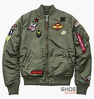 Куртка Alpha Industries MA-1 Patch Green 178001-01-SAGE-GREEN b786c00838435