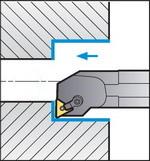 Схема обработки резцом S25S-MTFNR16