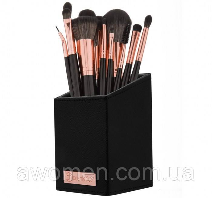 Набор кистей для макияжа BH Cosmetics с подставкой Signature Rose Gold - 13 Piece Brush Set